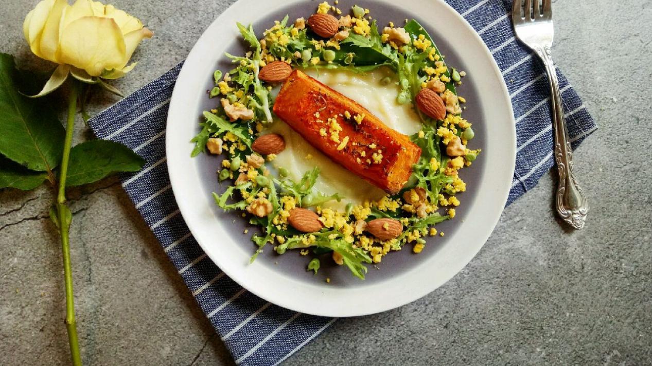 减肥期间也能吃的南瓜土豆沙拉,做法简单,营养又美味