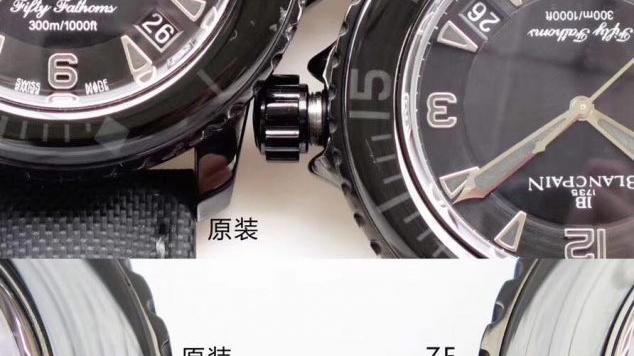 ZF厂宝珀五十噚黑武士复刻腕表对比正品腕表究竟如何-ZF厂宝珀对比差距测评