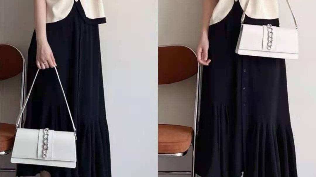 长款半身裙怎么搭配上衣夏天