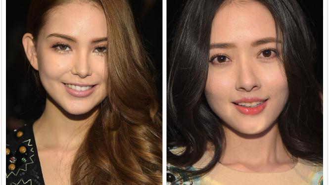 欧美面孔真不占便宜,昆凌和郭碧婷站在一起,看不出年龄差