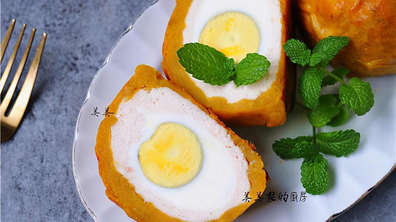 蛋黄酥新做法,减肥也能放心吃!无糖无油低热量,高蛋白!