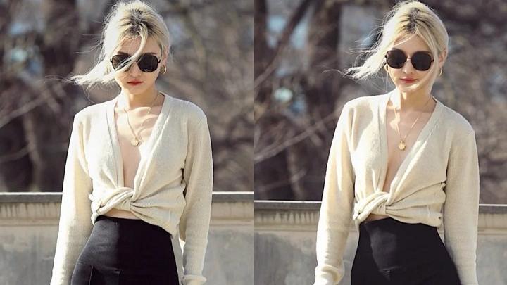 初春绝美毛衣搭配合集,毛领配斑马纹裤小众复古风,既温柔又气质