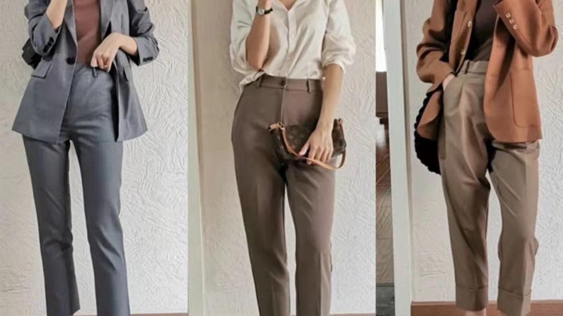 """40岁女人秋季""""裤装""""搭配,从牛仔裤到西裤,解决你的穿衣难题"""
