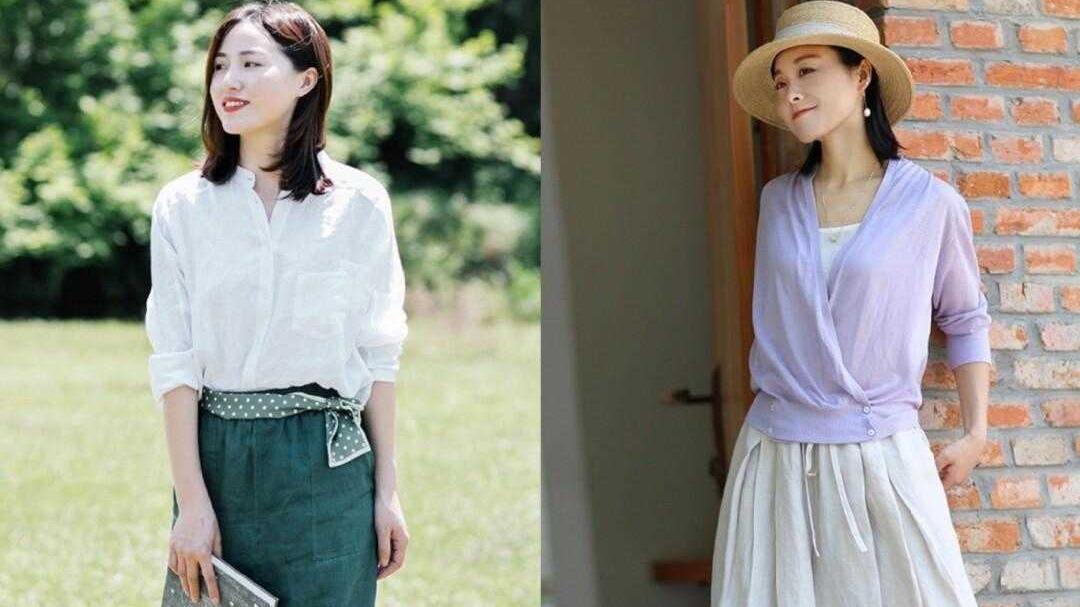 夏季出游必备衣服单品,轻盈舒适的棉麻风,也能拍出时尚大片来