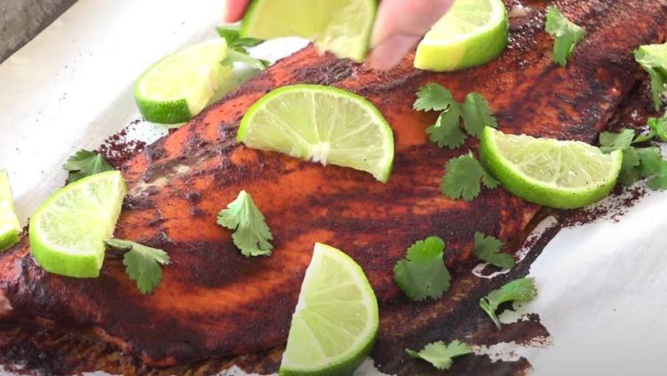 柠檬芝士条和智利酸橙三文鱼的制作方法