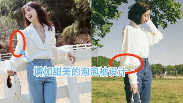 阔腿裤过时了,今年流行:白衬衫+牛仔裤,时髦有型又显瘦,好看