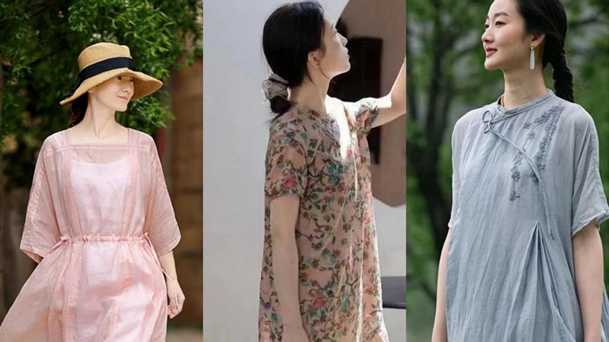 为40岁女人量身打造的棉麻穿搭,舒适素雅又大方,轻松穿出好气质