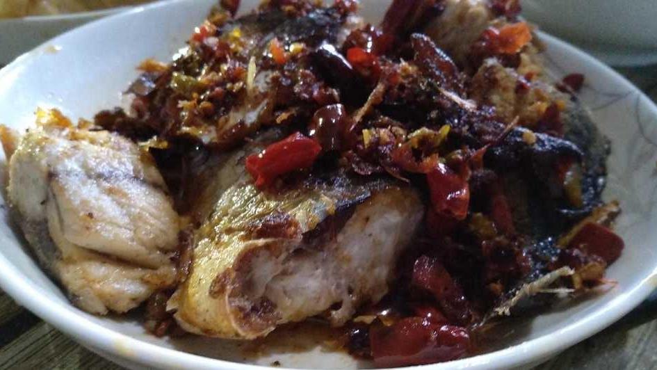 麻辣鲅鱼,吃起来麻辣鲜美,肉质肥嫩,美味可口很有滋味呢