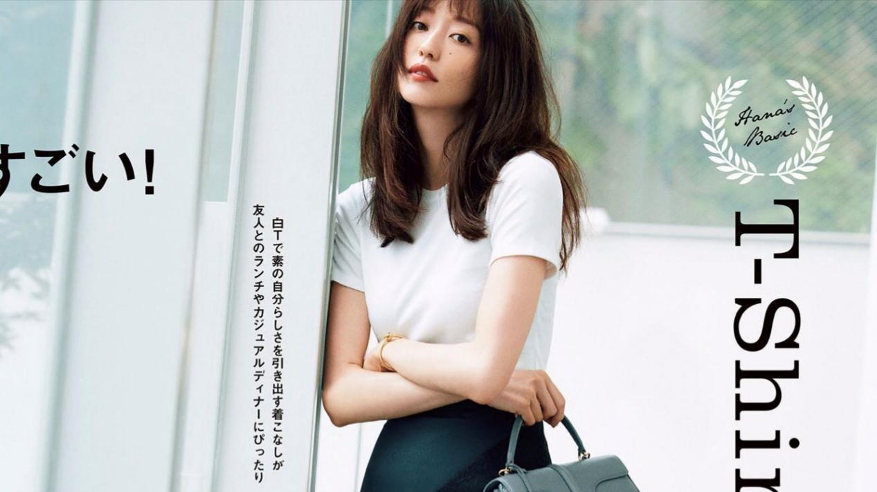 基础款穿出高级感,日本达人松岛花才是时髦精,简单优雅又养眼