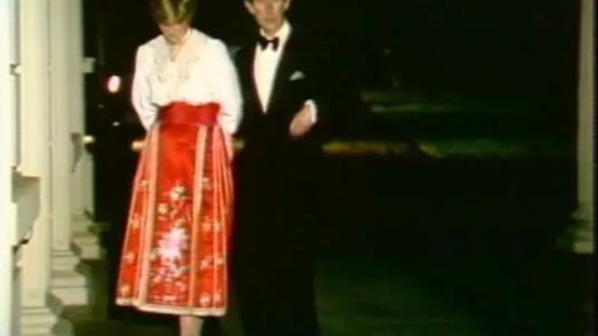 40年前,戴安娜穿中式马面裙参加晚宴,却没有穿对,隐藏不祥征兆