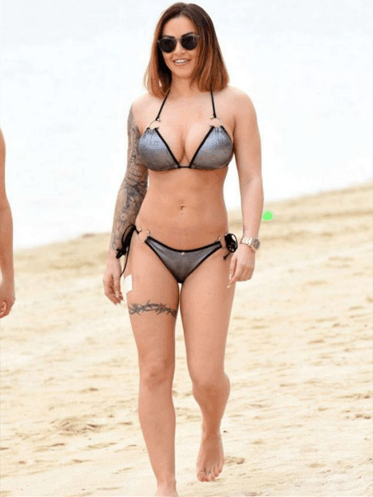 欧美女星杰尔玛海滩度假, 纹身的真人秀