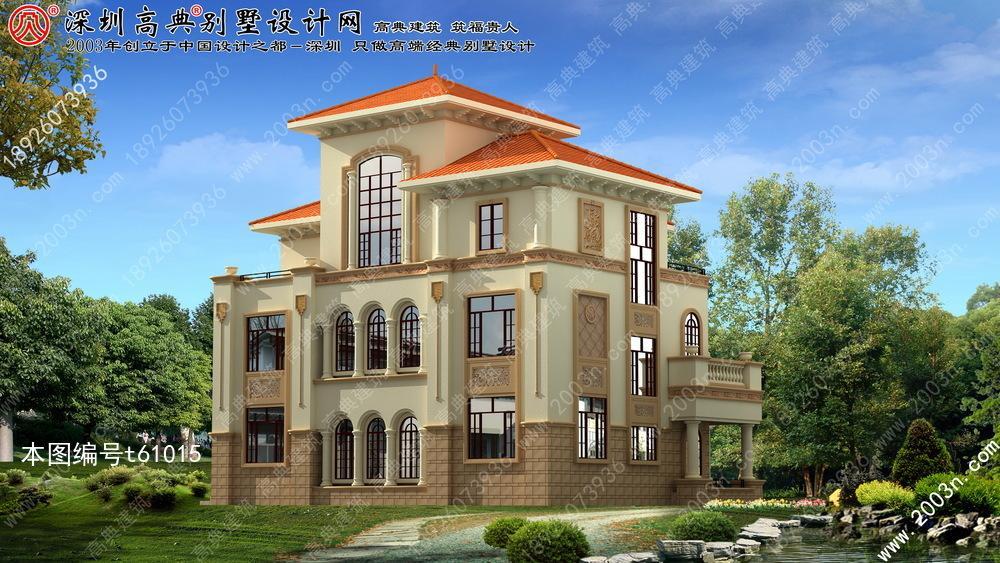 别墅设计图纸及效果图大全首层186平方米