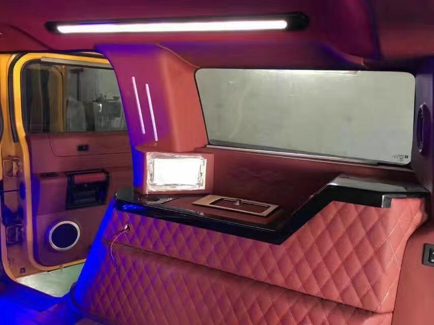 汽车内饰改装,汽车内饰翻新,座椅改装,车厢内置豪华办公桌,电动与手动