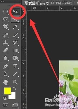 接着关键的一步来了,我们选择选框工具,点击虚线框移动,如图那个猫头