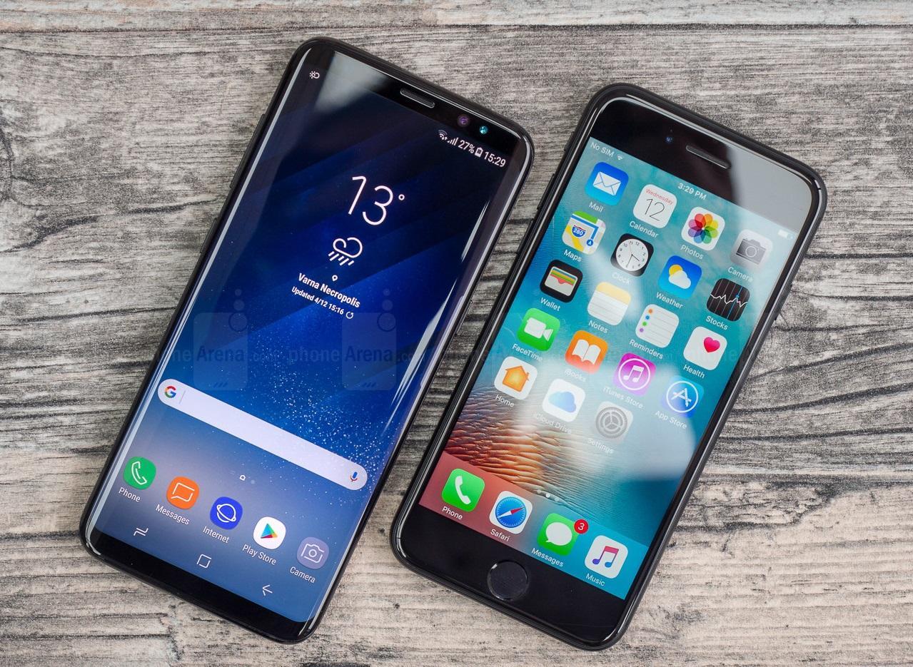 史上最漂亮的手机,三星galaxys8对比iphone7