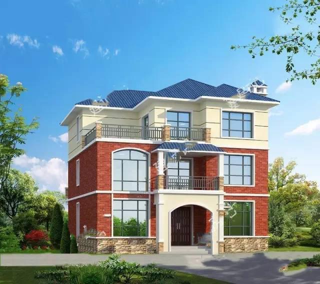 12×12米造价三十万农村别墅,绝大部分自建房子都选它