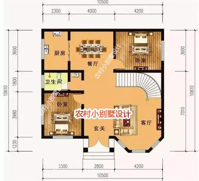 别墅基本情况占地尺寸:10.5x10.包头别墅价格图片