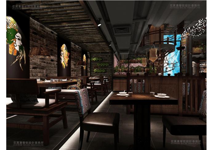 花万里主题餐饮设计-开一家餐厅就能火一家的秘密
