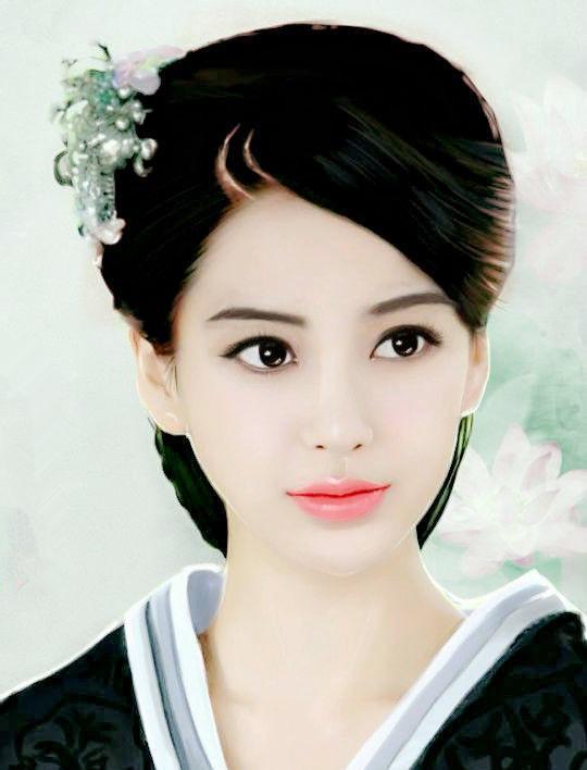 """财经 财经媒体 正文  被誉为""""古装美女第一人""""的刘亦菲,手绘画中的她"""