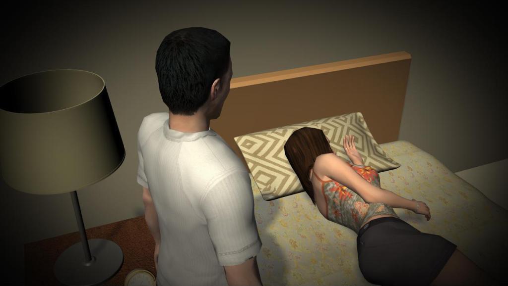 3D: 男子半夜入室偷摸熟睡女子 不顾其丈夫就在旁边