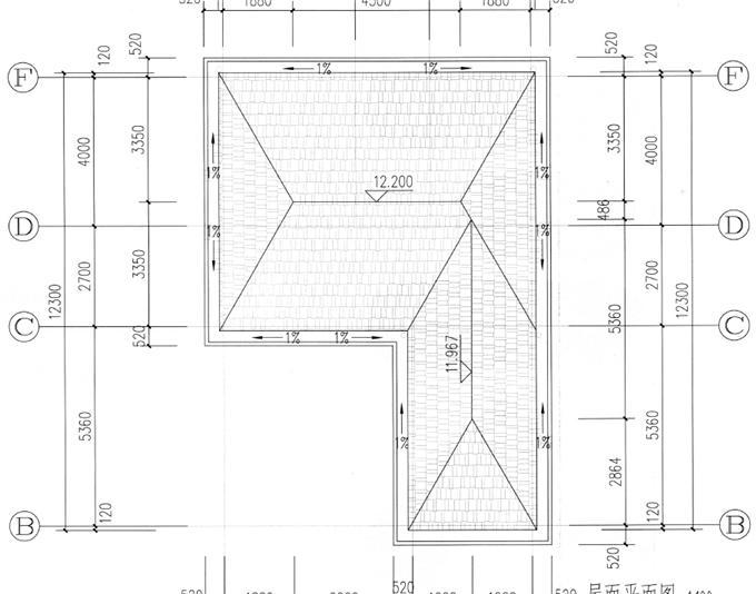 8.5米x14米平面图