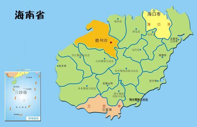 这个位于热带, 有着百万人口的中国地级市, 省略了区县, 只有乡镇