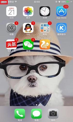 回到手机拨号页面输入下图所示的内容:-iPhone手机信号图标变数字图片