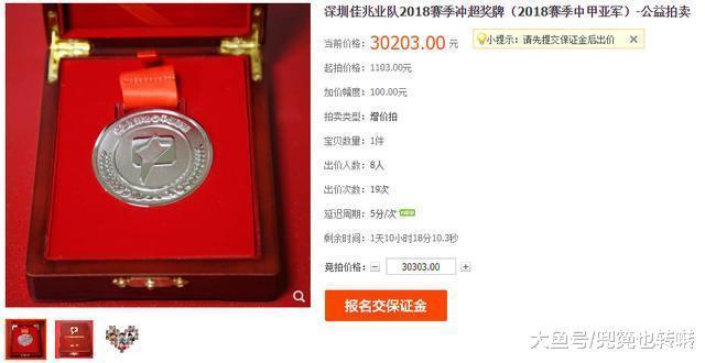 足球不但是足球, 深圳吉兆业以千元拍卖中甲奖牌用于脑瘫儿童