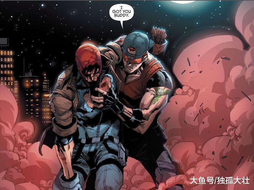 红头罩大战蝙蝠侠, 老爷一拳让他怀疑人生, 打小丑都没这样吓人!
