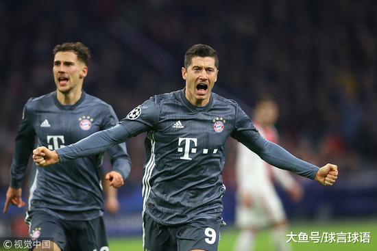 欧冠-莱万单响科曼破门 拜仁3-3阿贾克斯头名升级
