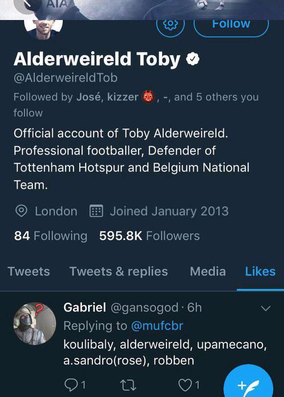 伍德沃德欲在冬窗签下托比! 托比表示愿加盟曼联!
