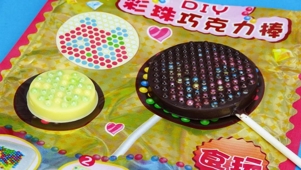 彩珠巧克力棒日本食玩DIY