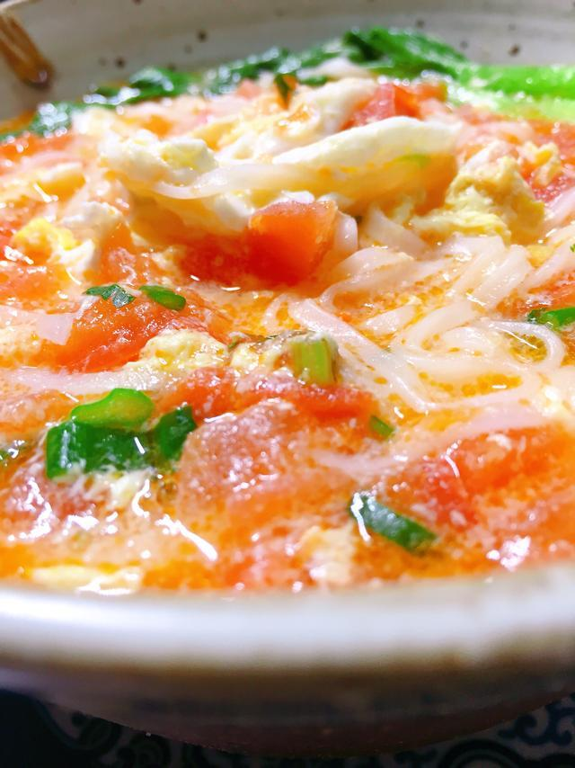 经济营养的西红柿鸡蛋面, 寒冬早上吃格外温暖