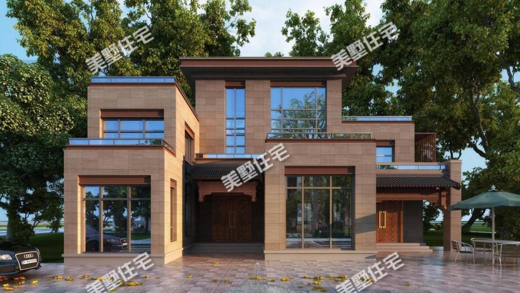 中国人建别墅, 还是中式最舒服, 这5款户型千万别错过!