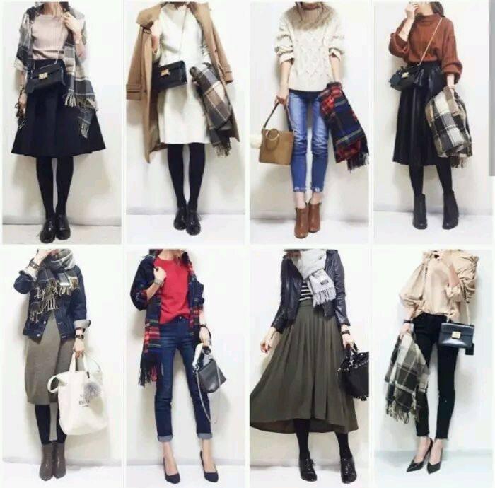 整整65套秋冬季穿搭示范,一位气质日本小姐姐简直太会穿!