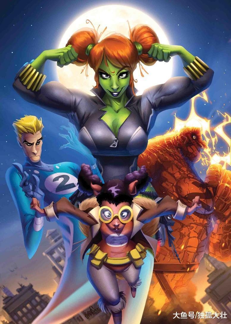 漫威公布更多合体角色, 神奇四侠变成二侠, 黑寡妇变身绿巨人!