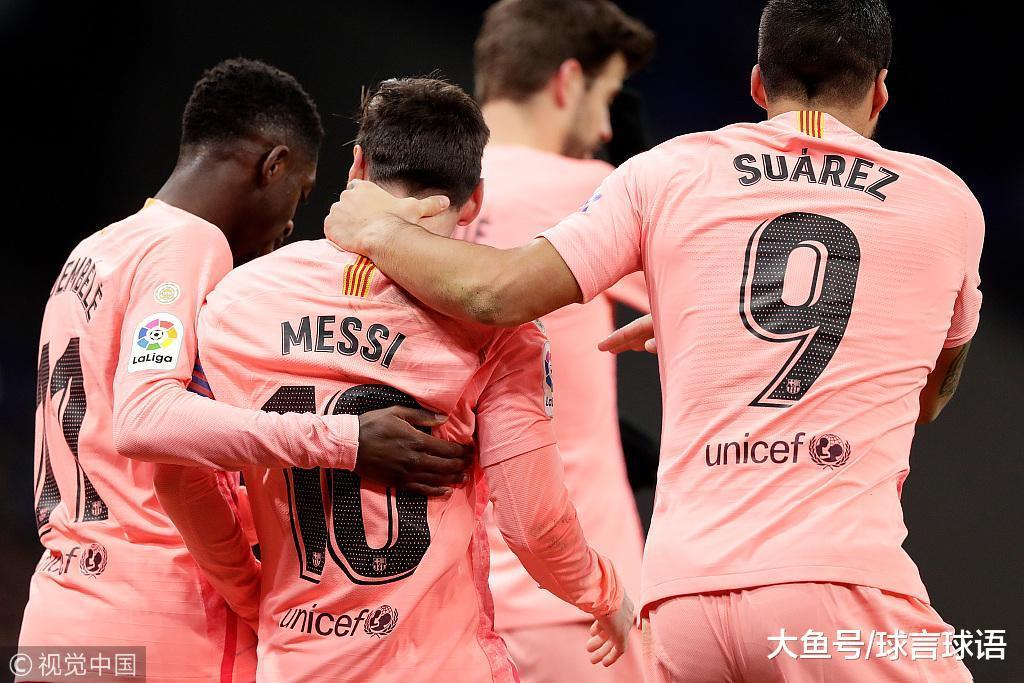 西甲-梅西随意率性球单响登贝莱立功 巴萨4-0西班牙人