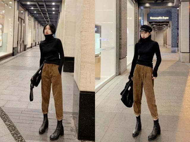 九分裤+短靴,才是冬季最时髦显高的搭配方式!造型足够有范儿