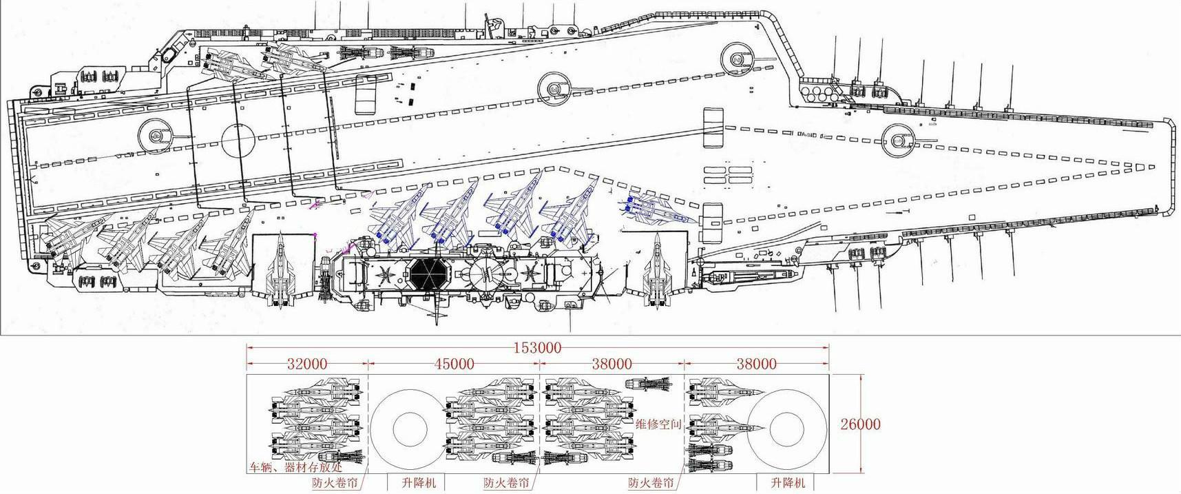 看来002航母确实多了1个舰载机甲板停机位!