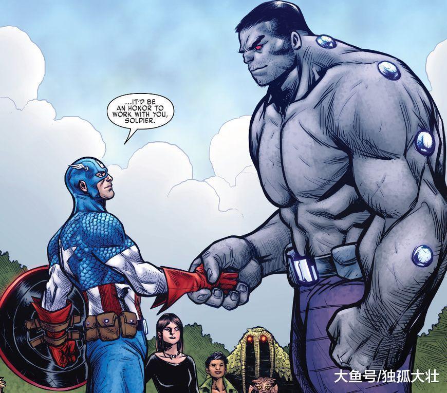 最强超级士兵出现, 绿巨狼大战美国队长, 他们竟然打成平手?