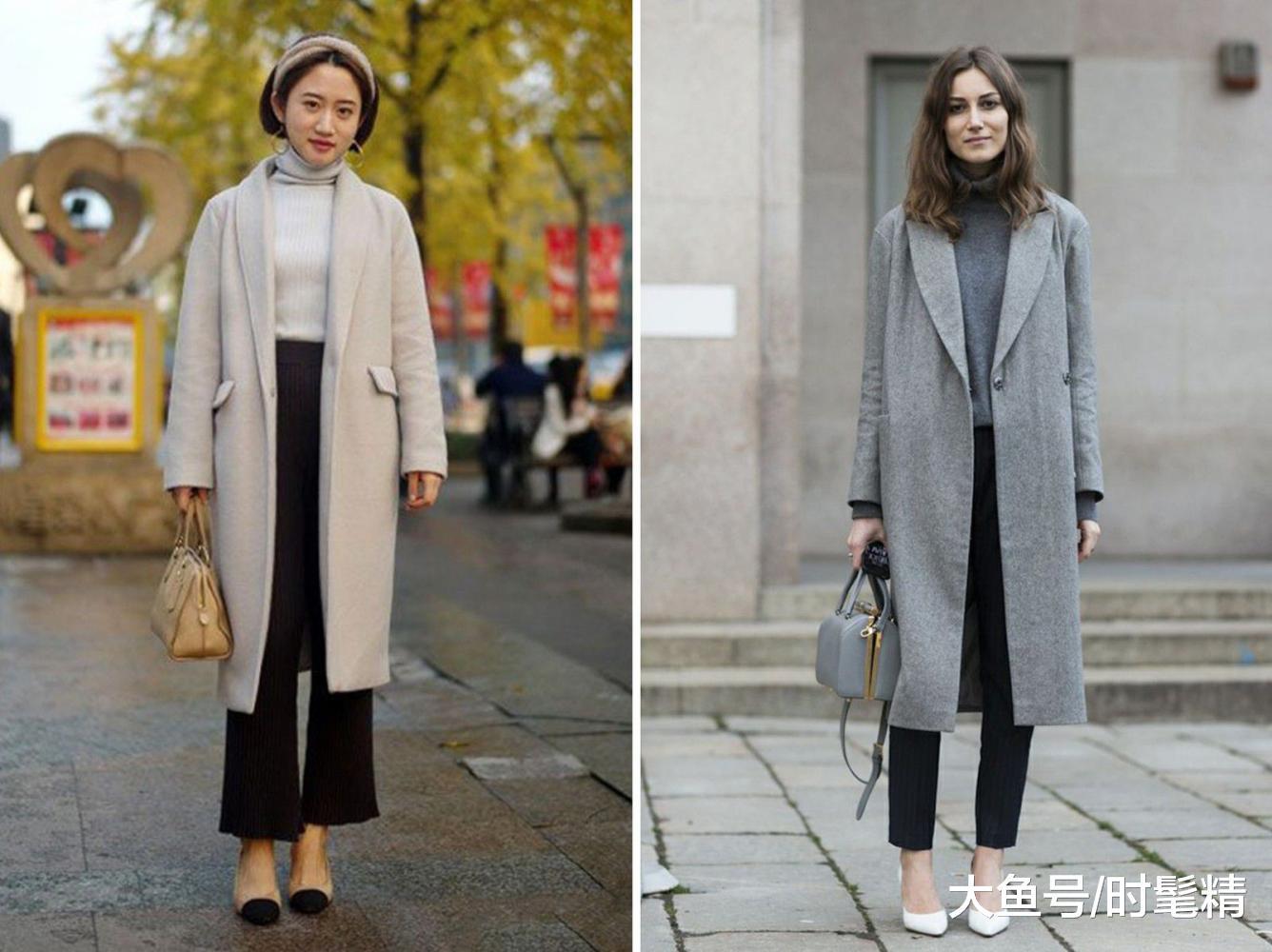 """身高不到160的女人,穿长外套切记""""3不要"""",穿错显矮没气质!"""