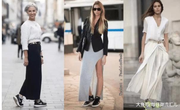 运动鞋搭配裙子,这样混搭会让你显得与众不同?
