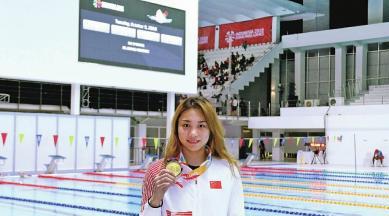 残疾的身体, 游泳的帅才, 柯丽婷的对峙让她获得了胜利