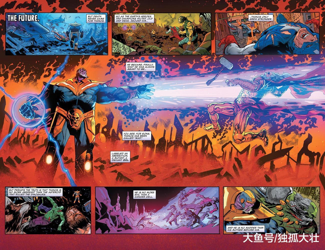 雷神托尔和灭霸的战力对比, 老年雷神为何不是老年灭霸的对手?