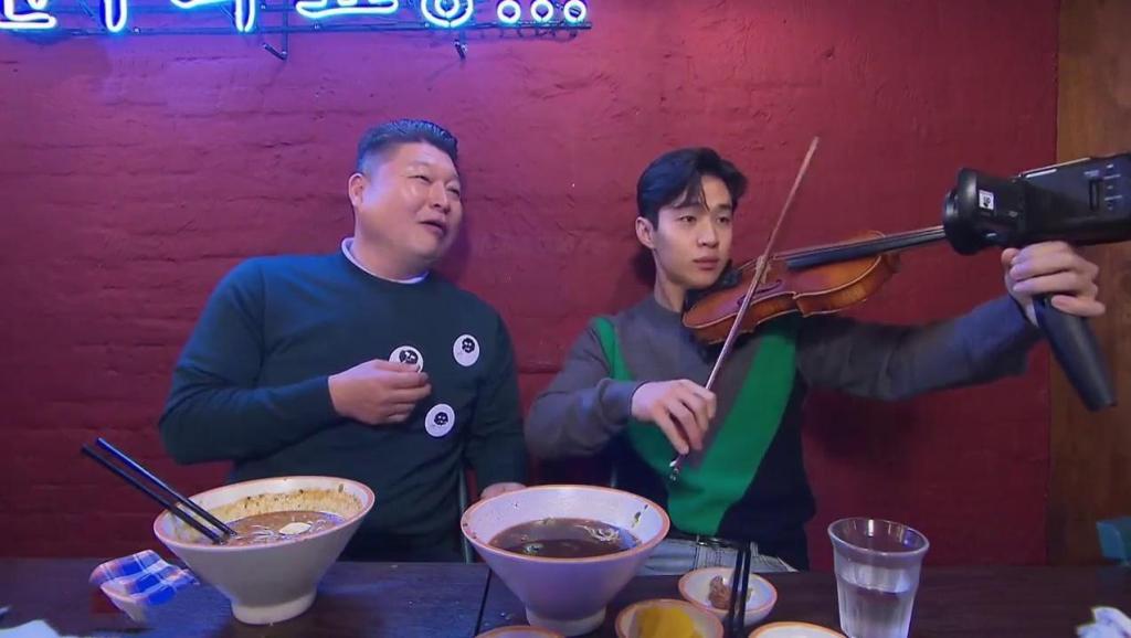 刘宪华带姜虎东到自己开的餐厅吃饭, 为了避嫌, 一直说东西难吃!