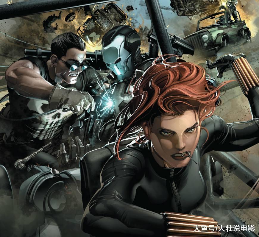 《惩罚者》复仇者联盟围攻惩罚者, 没想到黑寡妇是双面间谍!