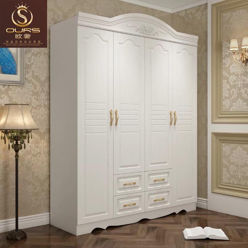 6,欧奢家具软装搭配白色卧室衣柜效果图