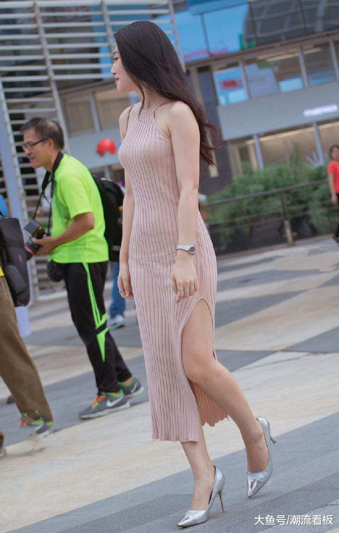 没有高挑身材,玲珑曲线,不敢穿这种修身连衣裙!