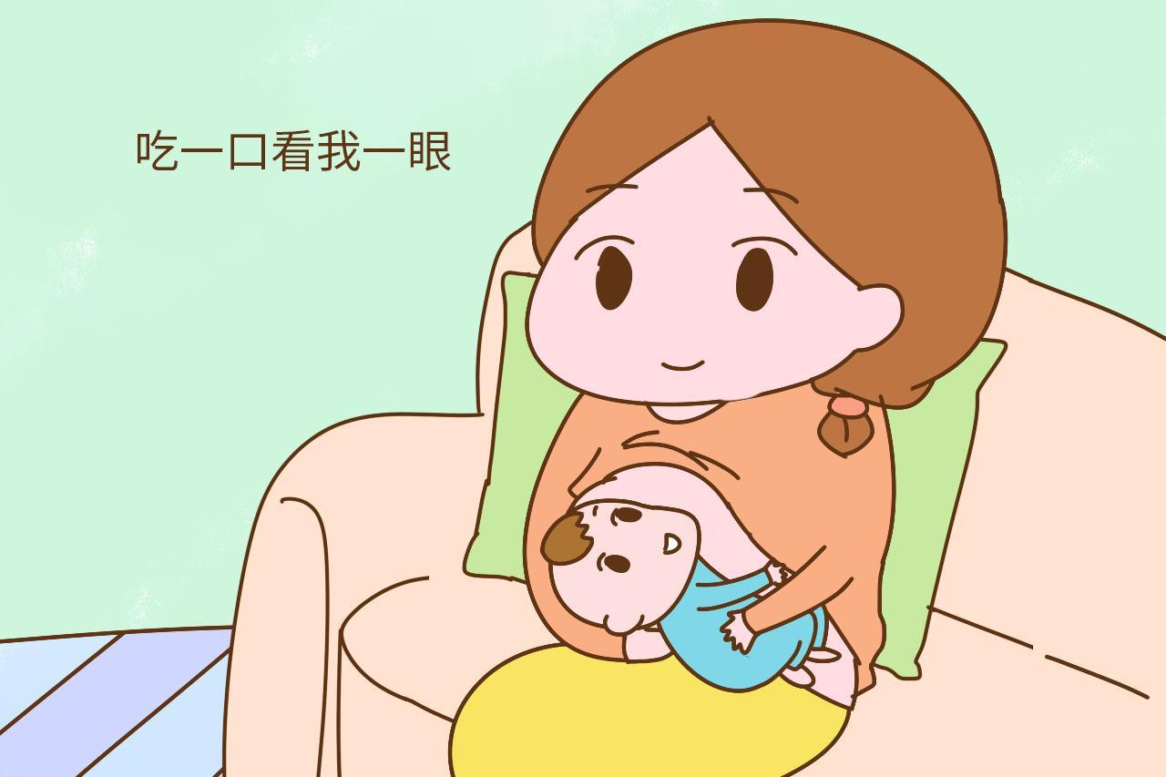 宝宝吃奶的姿势暴露宝宝未来的性格, 我家是文