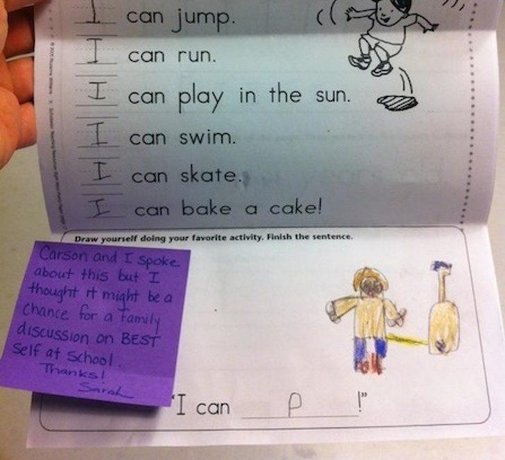 21张「证明小孩具有最纯粹魂魄」的爆笑做业簿照片:先生扶额:如许写也出错啦…